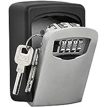 TRIXES Caja Fuerte de Montar en Pared Llave para Cerrar de Combinación - Caja de Seguridad para Llaves