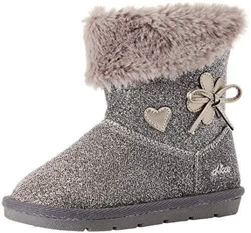 Chicco Baby Mädchen Carlotta Kurzschaft Stiefel, Silber (Acciaio 080), 25 EU