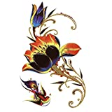 LBBMBC Golden Lotus Water Tattoo Tattoo Tattoo Tattoo Comics de beauté pour Hommes
