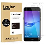 [Lot de 2] Huawei Y6 2017 / Huawei Nova Young / Huawei Y5 III / Y5 3 Protection écran, iVoler Film Protection d'écran en Verre Trempé Glass Screen Protector Vitre Tempered pour Huawei Y6 2017 / Huawei Nova Young / Huawei Y5 III / Y5 3 - Dureté 9H, Ultra-mince 0.20 mm, 2.5D Bords Arrondis- Anti-rayure, Anti-traces de Doigts,Haute-réponse, Haute transparence- Garantie de Remplacement de 18 Mois