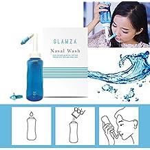 Glamza - Limpiador de nariz para alivio de alergias, neti, lavado de la nariz