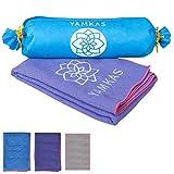 Yamkas yoga handtuch 100% microfaser yogatuch für die yogamatte -