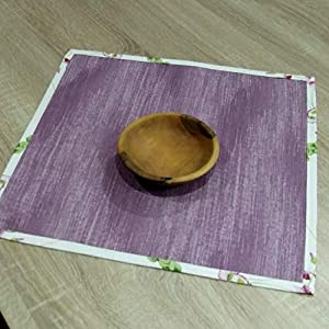 Erstaunliche Kleine Quadratische Tischdecke, das Beste Geschenk für die schönste Küche von HomeAtelier, Violette Frühlingsblumen, 40x40cm