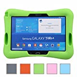 NEWSTYLE Samsung Galaxy Tab 4 10.1 Kinderfreundliche Silikon Hülle Schutzhülle Tasche Case für Samsung Tab 4 SM-T530/T531/T535 Tab 3 GT-P5200 P5210 P5220 (10,1 Zoll) - Grün