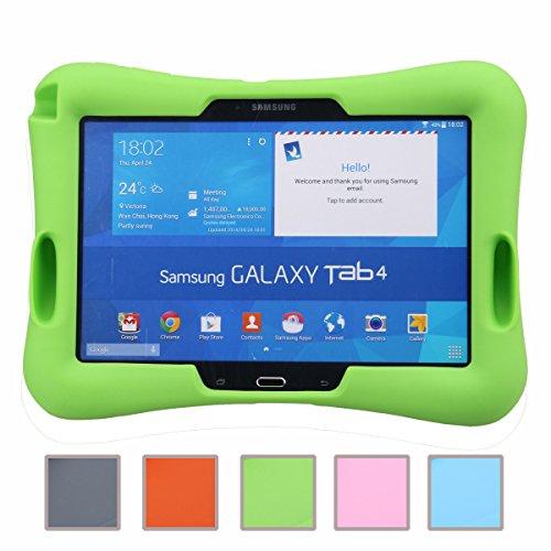 NEWSTYLE Samsung Galaxy Tab 4 10.1 Kinderfreundliche Silikon Hülle Schutzhülle Tasche Case für Samsung Tab 4 SM-T530/T531/T535 (10,1 Zoll) - Grün Tablet-cover Für Kinder