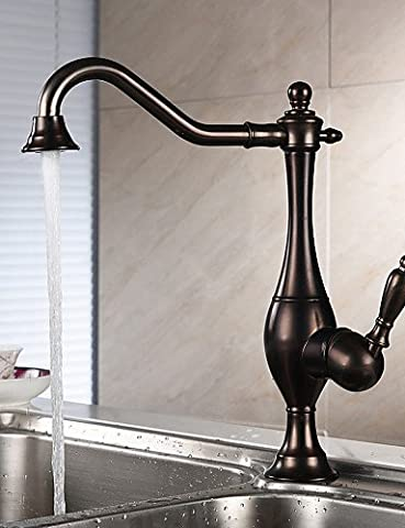 YFF@ILU Home deco Centerset Single Handle One Hole with Oil-rubbed Bronze Kitchen faucet , light slate gray