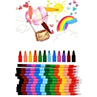 WOWOSS 12Pcs Colour Crayons Swop Point Crayons for Kids Stacker Pencil Crayon for Xmas Birthday Gift, Party Bag Fillers