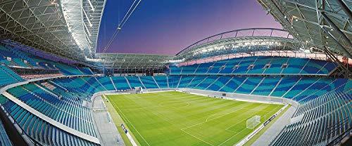 Leipzig Stadion Panorama - Poster 120 x 50 cm - hochwertiger FineArtPrint -