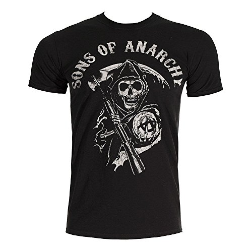 Sons Of Anarchy Main Logo T Shirt (Black)