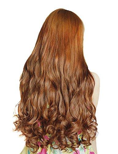 Haute résistance à la température de 50,8 cm de long manches 5 Clip Extension de cheveux 4 couleurs disponibles