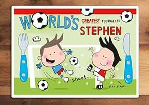 Paper Gekko Set de table pour enfant Motif personnalisable football