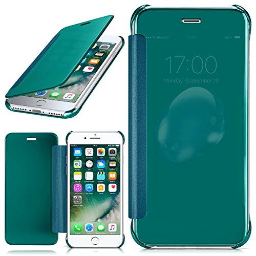 iPhone 7 Plus Hülle Transparent TPU [OneFlow Void Cover] Dünne Schutzhülle Schwarz Handyhülle für iPhone 7 + Plus Case Ultra-Slim Handy-Tasche mit Sicht-Fenster AQUA