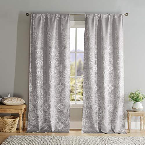 DUCK River Textil Paisley Pole Top Fenster Vorhang 2Panel Fall Set, Stahl Grau, 39x 96 (Fenster 96 Vorhänge)