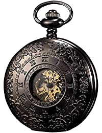 KS KSP044 - Reloj de Bolsillo, Mecánico, Analógico, Caja Negra