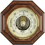 British Made Barometer in Polished Mahogany Wood Vaneer -