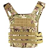 QHIU Tactical Vest Camouflage Molle Plate Carrier Protection Multifunction Combat Military Vest