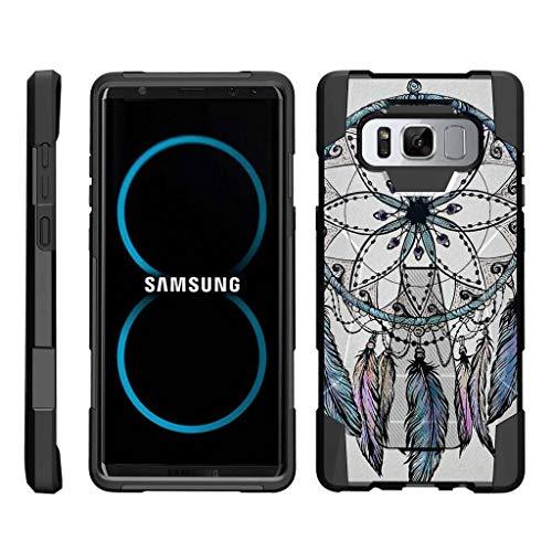 turtlearmor | Kompatibel für Samsung Galaxy Note 8Case | N950[Dynamischer Shell] Hybrid Dual Layer Hard Shell Ständer Silikon Fall -, Dreamcatcher Feathers (Virgin Galaxy Note Samsung Mobile)