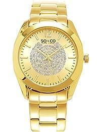 So y Co para mujer de Nueva York reloj infantil de cuarzo con esfera analógica dorado y dorado correa de acero inoxidable de 5096,2