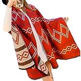 Warm Winter/Herbst Schal, Umschlagtuch mit schönes Karomuster aus hochwertiger kunst Wolle, beide Seite tragbar, Mode des TrendsYWJ004
