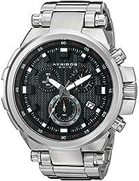 Akribos XXIV AK861SSB - Reloj de cuarzo para hombres, color plata