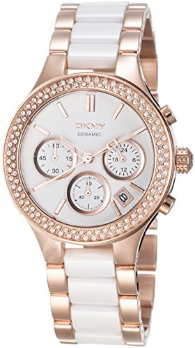 DKNY SPRING 11 NY8183 Stainless Steel Case White Ceramic Mineral Women's Watch