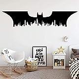 Grand vinyle de Batman City pour les chambres d'enfants de Babys Décoration décoration sur la murale 58X12cm art quote Wall Sticker,décalcomanie amovible,décoration intérieure,affiche murale étanche,p