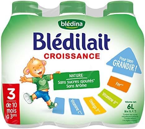 Blédina - Blédilait - Croissance - 10 à 36 Mois -Lot de 6x1L