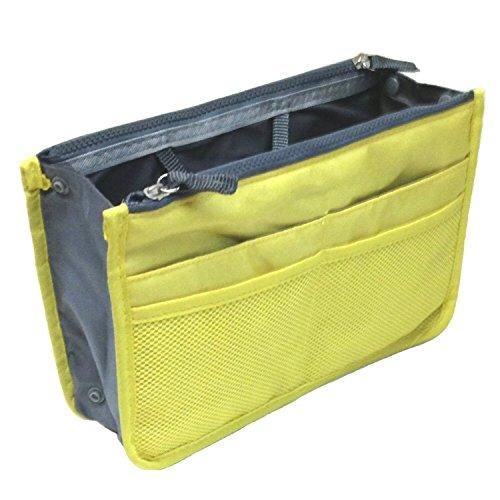 Sagrada Women Travel Insert Handbag Organiser Purse Large liner Organizer Tidy Bag - Yellow