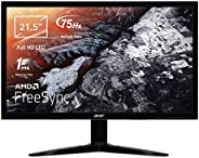 Acer KG221Qbmix 21.5 Inch FHD Gaming Monitor, Black (TN Panel, FreeSync, 1 ms, HDMI, VGA)