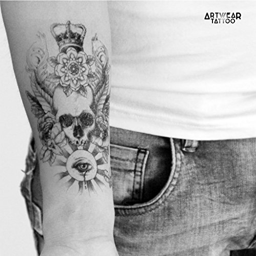 temporre-ttowierung-temporary-tattoo-water-transfert-skull-eye-crown-artwear-tattoo-b0039-m