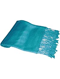 Ladies Soft Plain Viscose Pashmina Scarf Shawl Wrap Stole Turquoise
