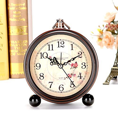PQW Bright Despertadores mecánicos Reloj de Mesa Sesión Simple de ...