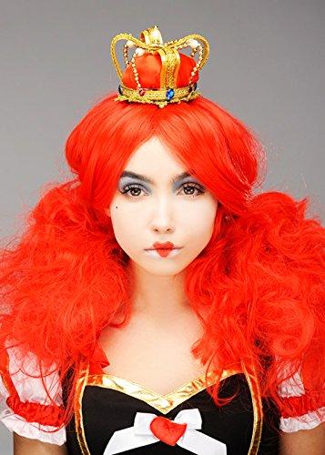 ts Perücke und Krone (Queen Of Hearts Perücke Und Krone)