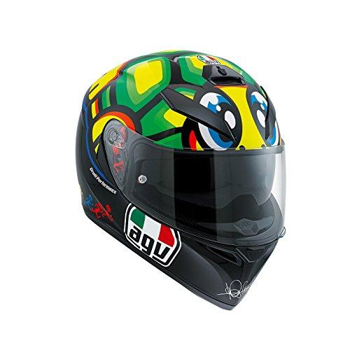 AGV K3SV Rossi Tartaruga Casco, mujer Hombre, 24210856, negro/verde