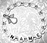 Produkt-Bild: Mamaarmband - Namensarmband - Armband mit Namen - Schutzengel - weiß