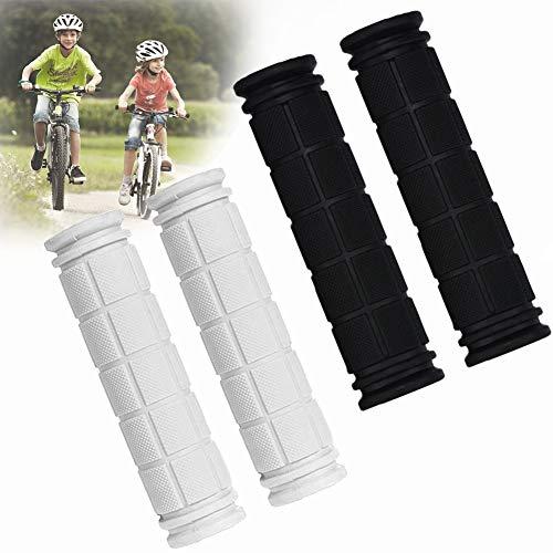 BESTZY Gummi Griffe Fahrrad, 2 Paare Fahrrad Handgriffe Gummi rutschfest Für Fahrradzubehör im Freien (Schwarz, Weiß)