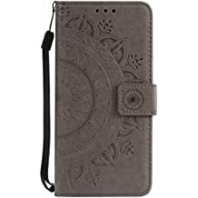 Rose gepr/ägtes Lederetui WIWJ H/ülle Kompatibel mit Samsung Galaxy A3 2017,Premium Tasche Cover Handyh/ülle Brieftasche Flip Case Lederh/ülle Schutzh/ülle Handyh/üllen f/ür Samsung Galaxy A3 2017-Schwarz