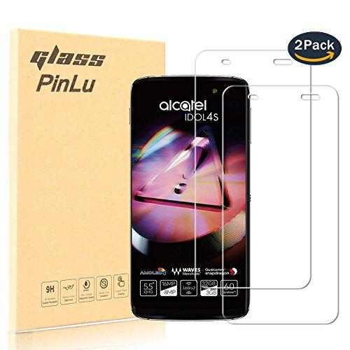 [2 Stück] pinlu® Panzerglas Bildschirmschutzfolie für Alcatel Idol 4S (5.5 zoll) Transparent Glasfolie Protector 9H Härtegrad Schutzglas,99prozent Transparenz,Einfaches Anbringen,3D Touch Kompatibel