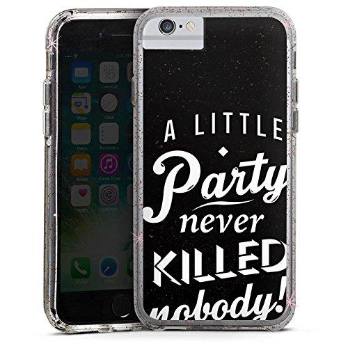 Apple iPhone 7 Plus Bumper Hülle Bumper Case Glitzer Hülle Party Phrases Sayings Bumper Case Glitzer rose gold
