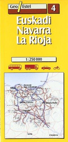 Euskadi-Navarra-La Rioja: Euskadi - Navarra - La Rioja Road Map 1:250, 000 (Mapas de carreteras. Comunidades autónomas y regio) por Mapes de Geoestel