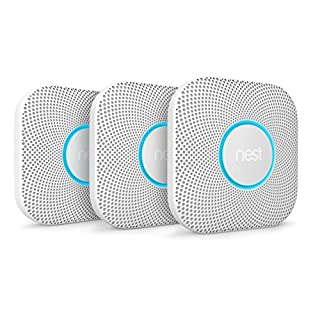 Nest Protect Smoke + Carbon Monoxide Alarm, (Battery), Set of 3 (2nd Generation)