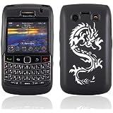 Samrick 0000431509 Drache Tattoo DICKE Hydro TPU Silikon Schutzhülle mit Schirm Schutz, Microfasertuch für Blackberry 9700 Bold/9780 Bold schwarz