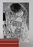 """Bilderdepot24 selbstklebende Fototapete Gustav Klimt - Alte Meister """"Der Kuss - schwarz/weiß"""" 65 x 100 cm - direkt vom Hersteller, Vinyl"""