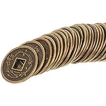 ba31a85806 Sharplace 50Pezzi Feng Shui Moneta Classica Cinese I-Ching Monete di Fortuna  da Collezione Souvenir