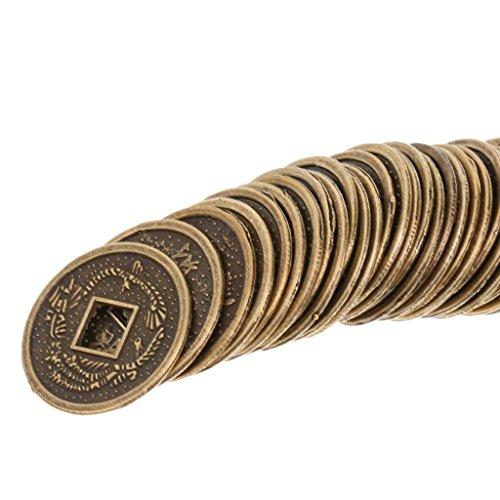 Sharplace Sistema de 50pcs Monedas de Aleación de China Tradicionales Feng Shui I-Ching Recuerdo 2cm