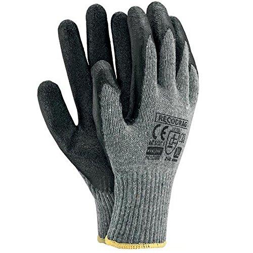 Arbeitshandschuhe 12 Paar Latexbeschichtung Gr. 9-11 Sicherheitshandschuhe Latex Handschuhe Schutzhandschuhe Arbeitsschutzhandschuhe Montagehandschuhe