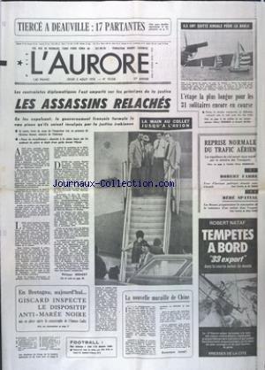 AURORE (L') [No 10538] du 03/08/1978...
