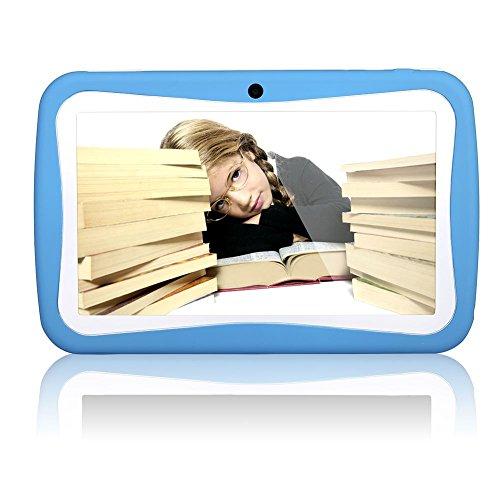 Padgene 7 Zoll Kinder Tablet PC 8G ROM-Speicher Android Quad Core 1.2 GHz bilige Tablet für Kids mit Spezialangebot (Blau)