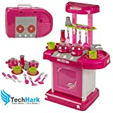 #8: Techhark Luxury Battery Operated Portable Kitchen Set Kitchen Toys for Girls
