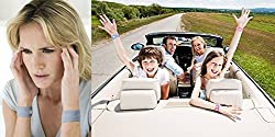 Pisix Band Family Pack Of 4 Travel Sickness Motion Sickness Relief Band air sickness relief car flight bus nausea wristband motion sickness